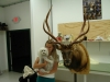 166 Lisa and Charli with her finished elk